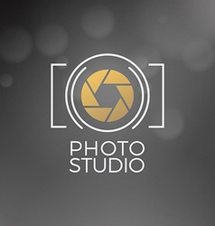 Photography Logo Design Template Retro Badge Photo vector image vector image