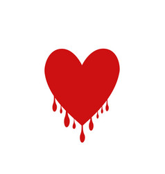 red heart with drops vector image vector image