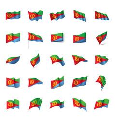 eritrea flag vector image vector image