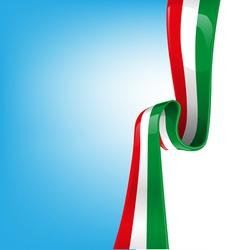 italian ribbon flag vector image vector image