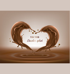 chocolate abstract splashes 3d vector image