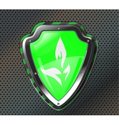 eco protection shield vector image