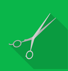 Hair-cutting shears icon in flat style isolated on vector
