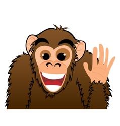 Monkey invitation vector image vector image