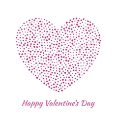 Pink Heart for Valentines Day card Background vector image