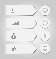 Set modern business banners with infographic icons vector image vector image