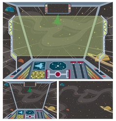 Spaceship Backgrounds vector image vector image