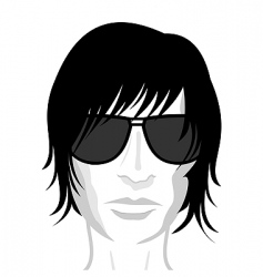 young man's face vector image vector image