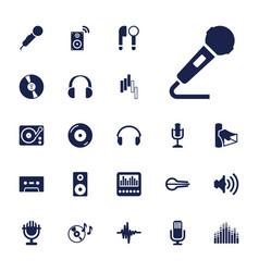 22 audio icons vector