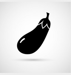 an isolated eggplant vector image