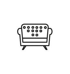 armchair icon vector image
