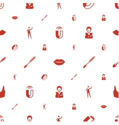 Attractive icons pattern seamless white background vector