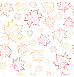 autumn seamless pattern background maple leaves vector image