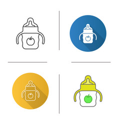 baby sippy cup icon vector image