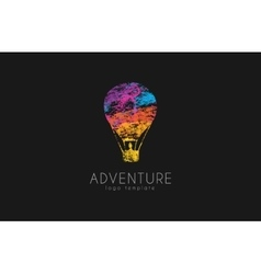 Balloon logo design Air balloon logo Adventure vector image