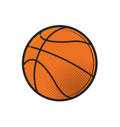 basketball ball icon design flat in black on vector image