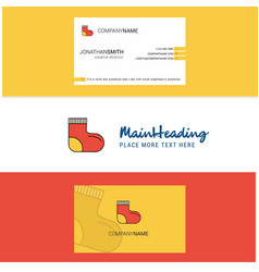 beautiful socks logo and business card vertical vector image