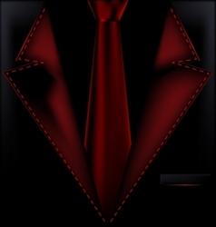 black and red suit vector image vector image