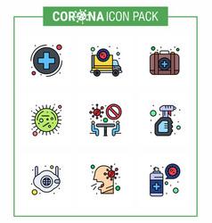 coronavirus precaution tips icon for healthcare vector image