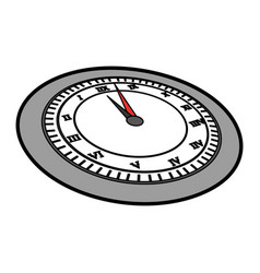 Cute grey clock cartoon vector