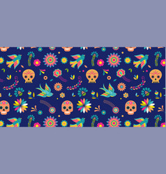 day of the dead dia de los muertos background and vector image