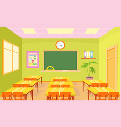 empty school class room vector image
