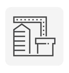 Factory icon black vector