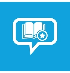 Favorite book message icon vector