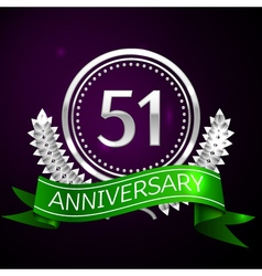 Fifty one years anniversary celebration with vector image