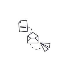 File transfer line icon sign vector