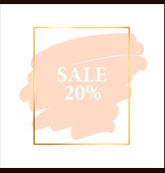 Frame label gold sale holiday poster vector
