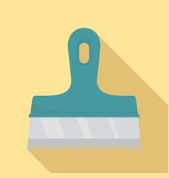 Glue spatula icon flat style vector