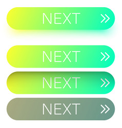 green next web buttons with arrow isolated on vector image