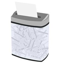 Grey full shredder vector
