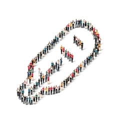 group people shape thermometer vector image