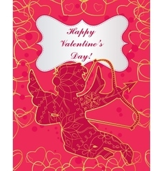 Happy St Valentines day card vector