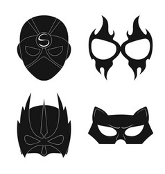 Hero and mask logo set of vector