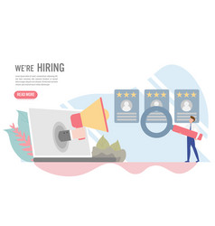 hiring and recruitment concept with vector image