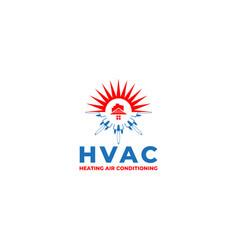 Hvac construction logo design vector