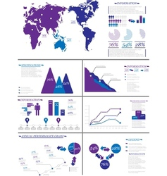 INFOGRAPHIC DEMOGRAPHICS 8 PURPLE vector image