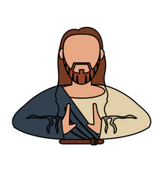 Jesus christ catholic religious vector