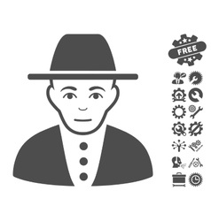 Jew Icon With Tools Bonus vector