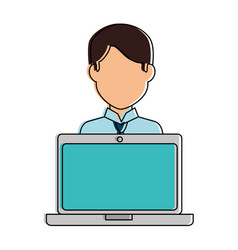 Laptop computer with user vector