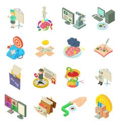Medical bureaucracy icons set isometric style vector