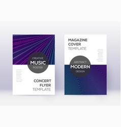 modern cover design template set neon abstract li vector image