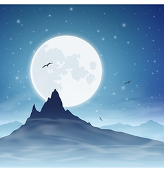 Mountain and Moon vector image