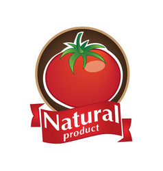natural product logo vector image