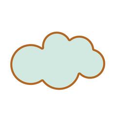Nice cloud sky icon vector
