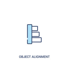 Object alignment concept 2 colored icon simple vector