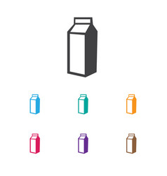 Of cooking symbol on lactose vector